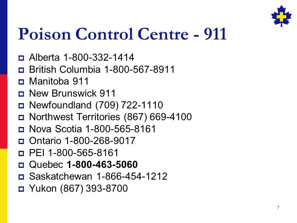 Poison Control Centre - 911