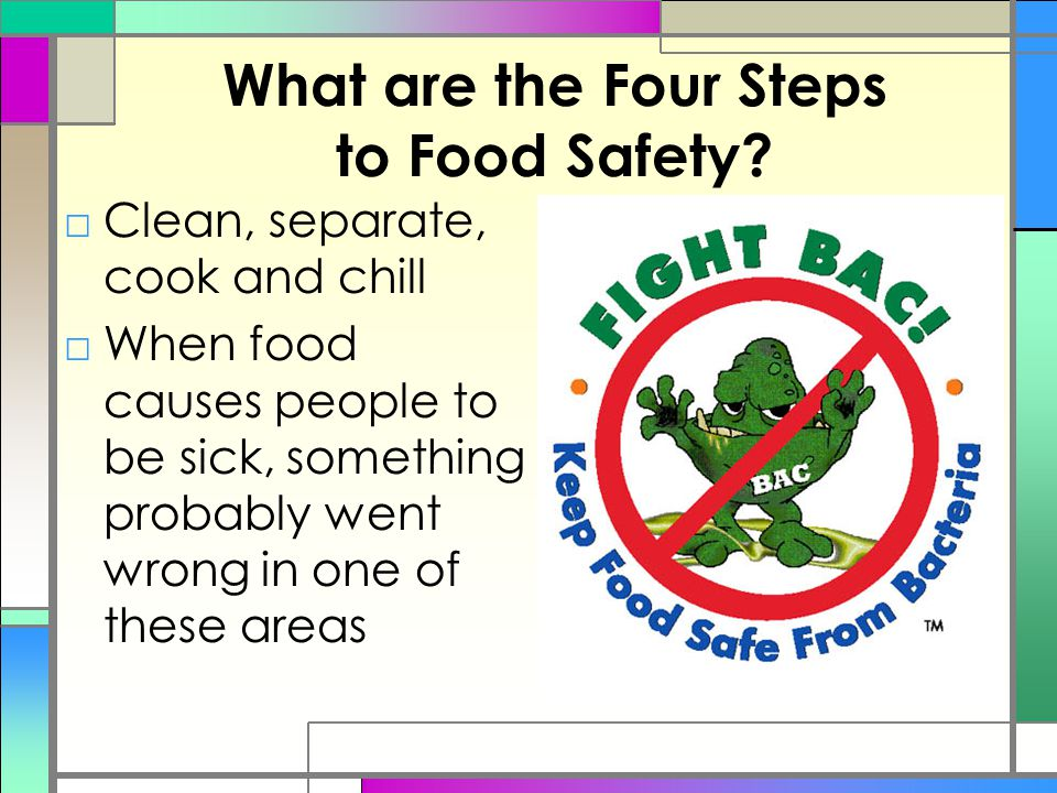 What are the Four Steps to Food Safety