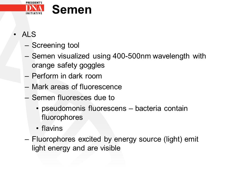 Semen ALS Screening tool