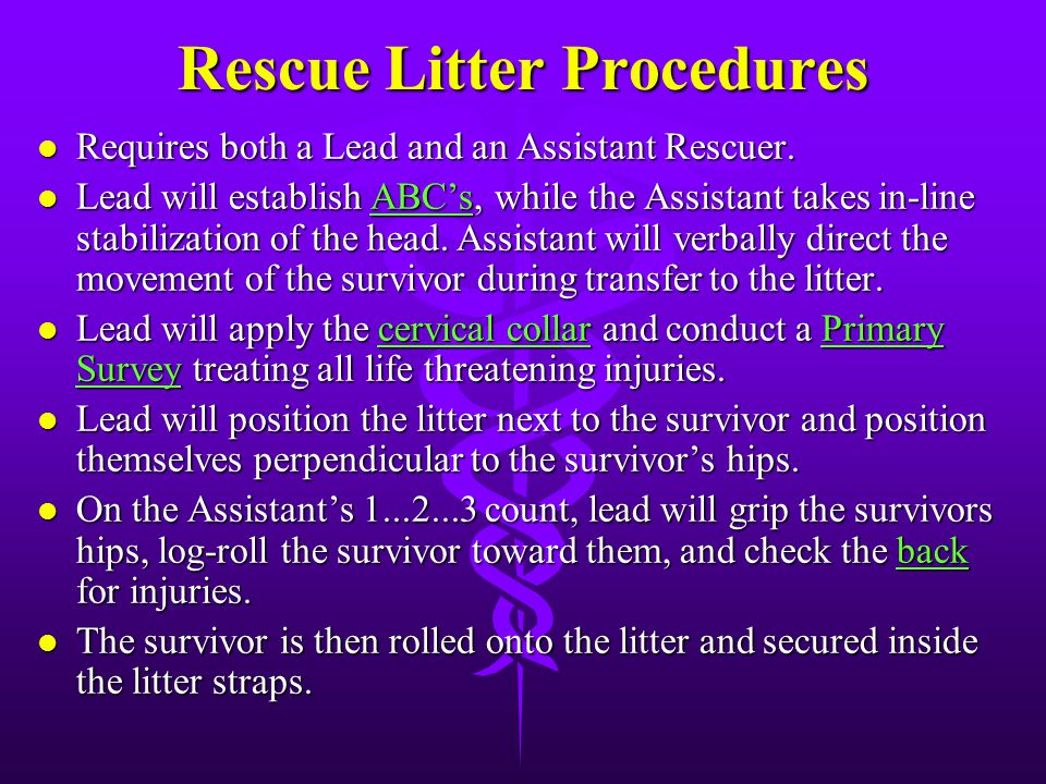 Rescue Litter Procedures