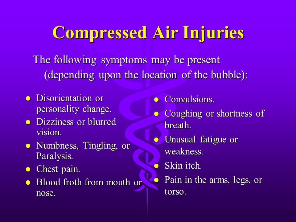 Compressed Air Injuries