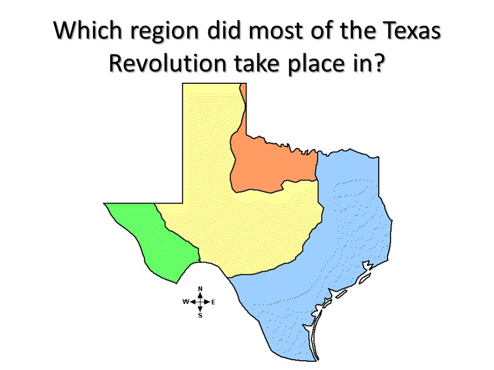 Which region did most of the Texas Revolution take place in