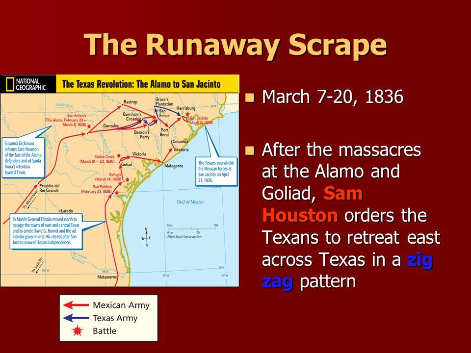 The Runaway Scrape March 7-20, 1836