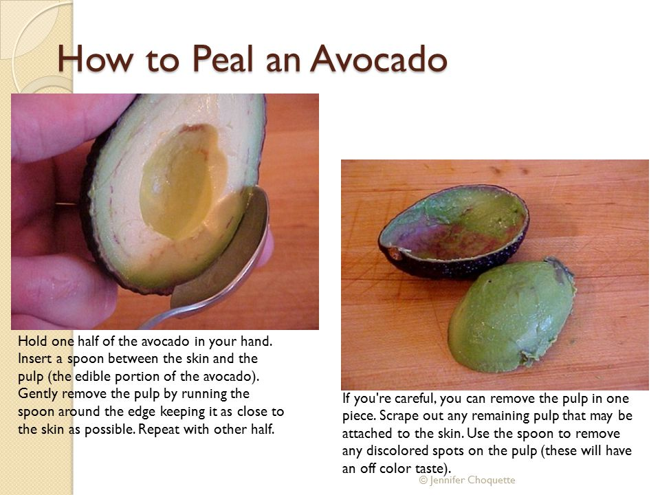 How to Peal an Avocado
