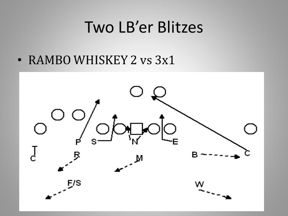 Two LB'er Blitzes RAMBO WHISKEY 2 vs 3x1