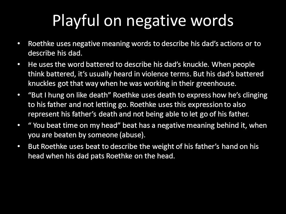 Playful on negative words