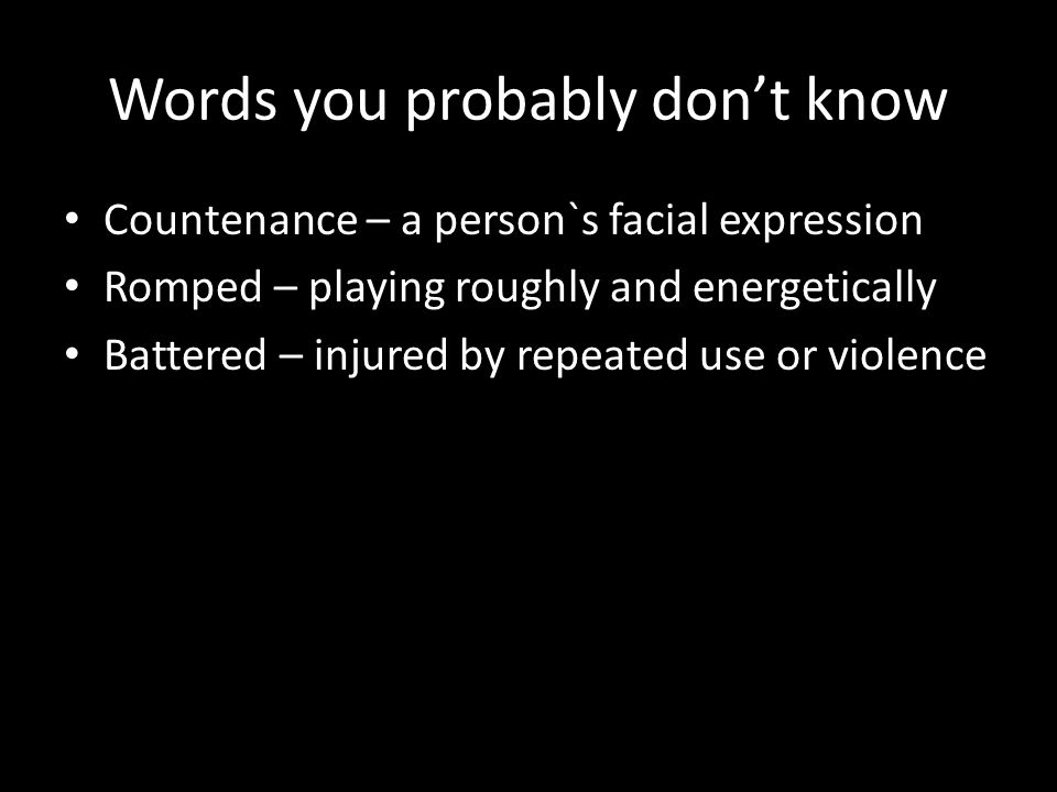 Words you probably don't know