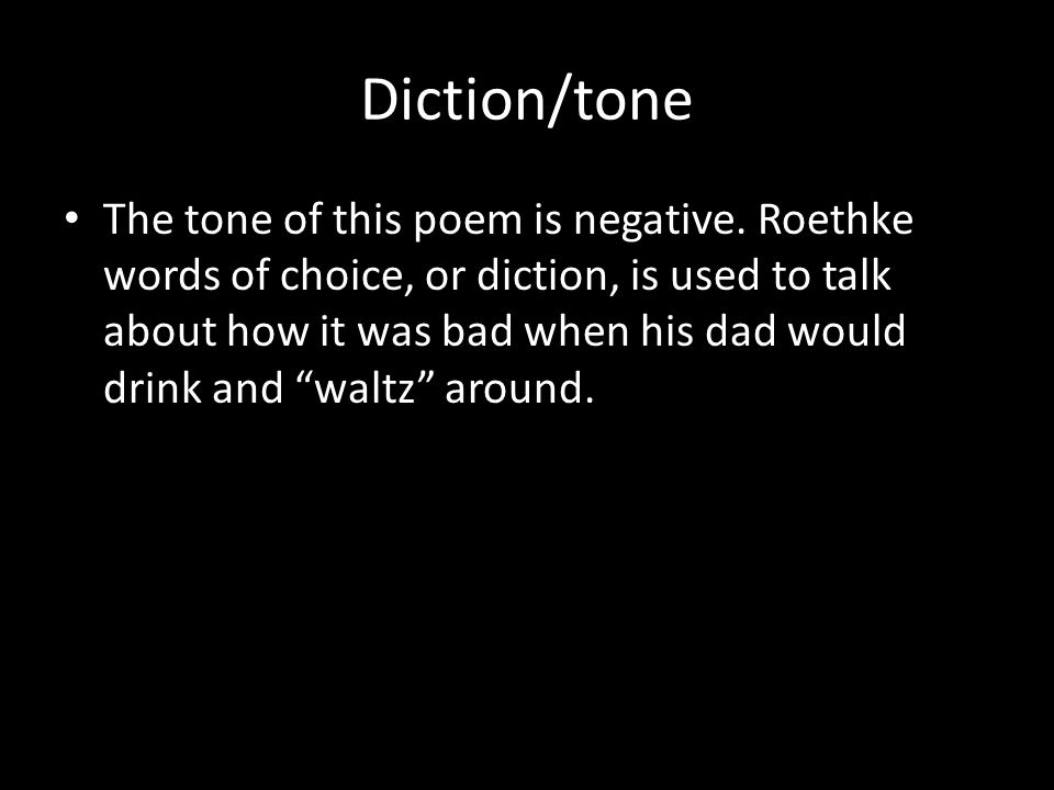 Diction/tone