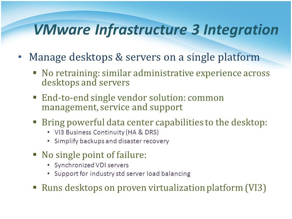 VMware Infrastructure 3 Integration