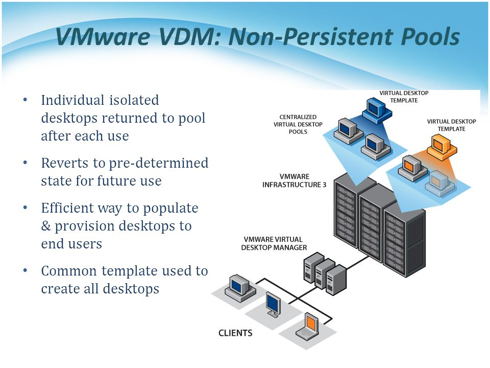 VMware VDM: Non-Persistent Pools