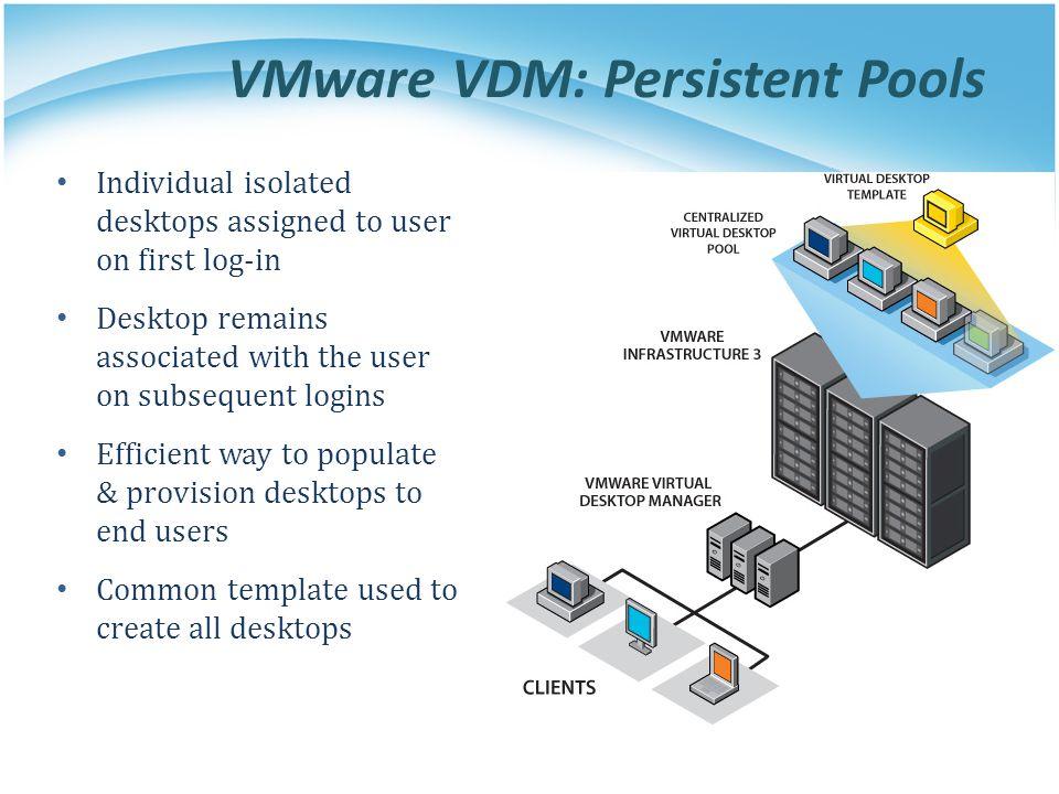 VMware VDM: Persistent Pools