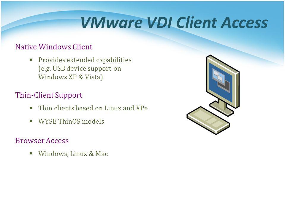 VMware VDI Client Access