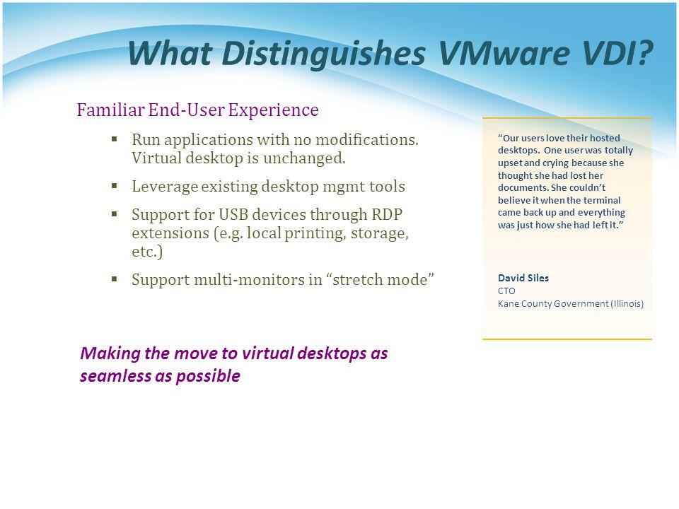 What Distinguishes VMware VDI