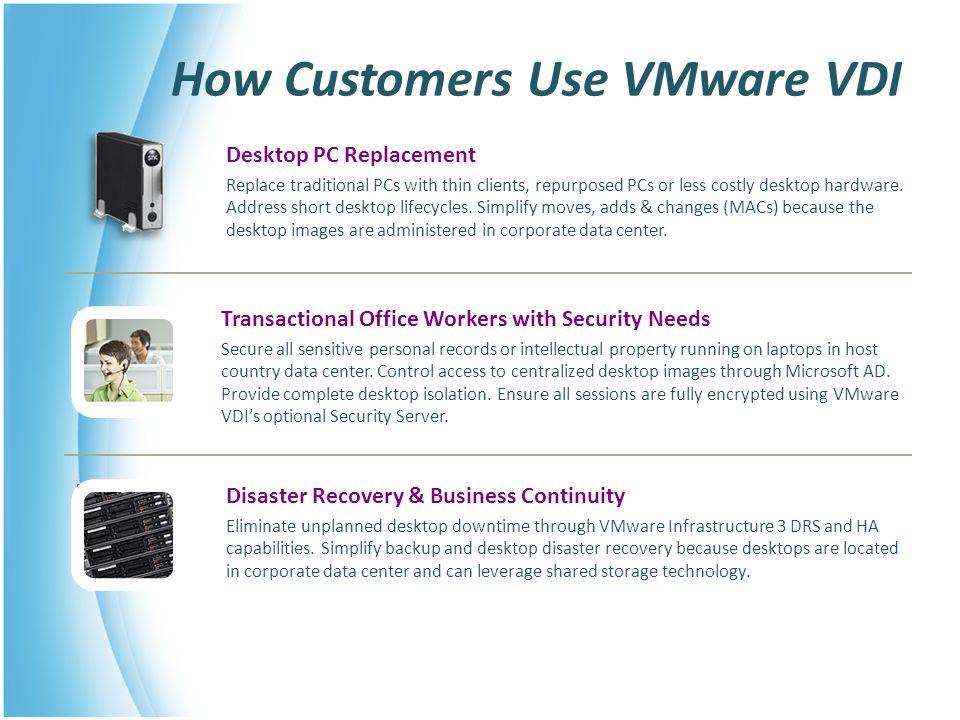 How Customers Use VMware VDI