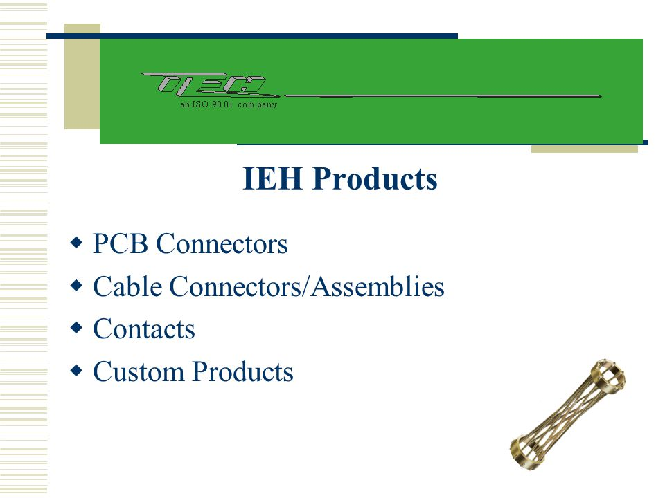 IEH Products PCB Connectors Cable Connectors/Assemblies Contacts
