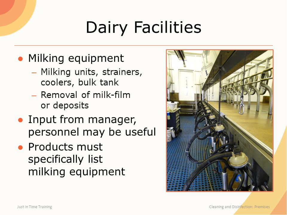 Dairy Facilities Milking equipment
