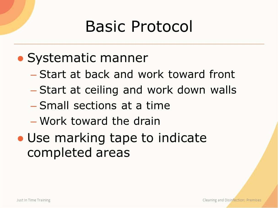 Basic Protocol Systematic manner