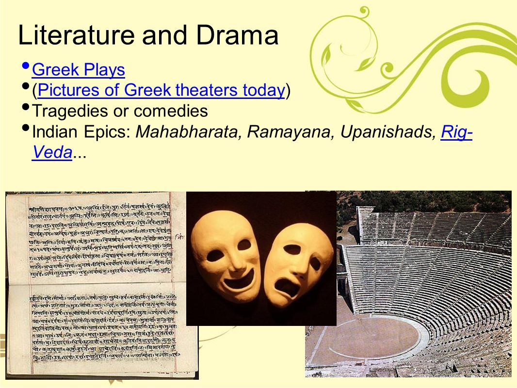 Literature and Drama Greek Plays (Pictures of Greek theaters today)