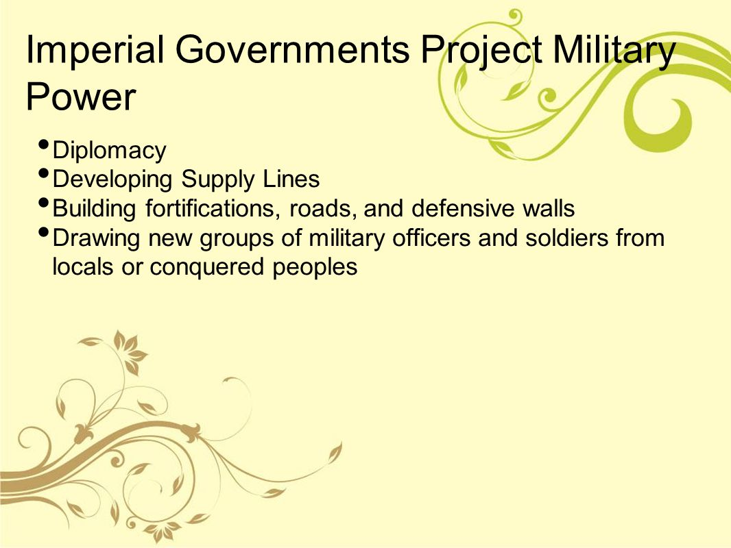 Imperial Governments Project Military Power