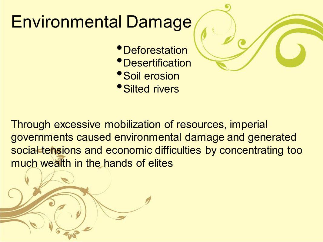 Environmental Damage Deforestation Desertification Soil erosion