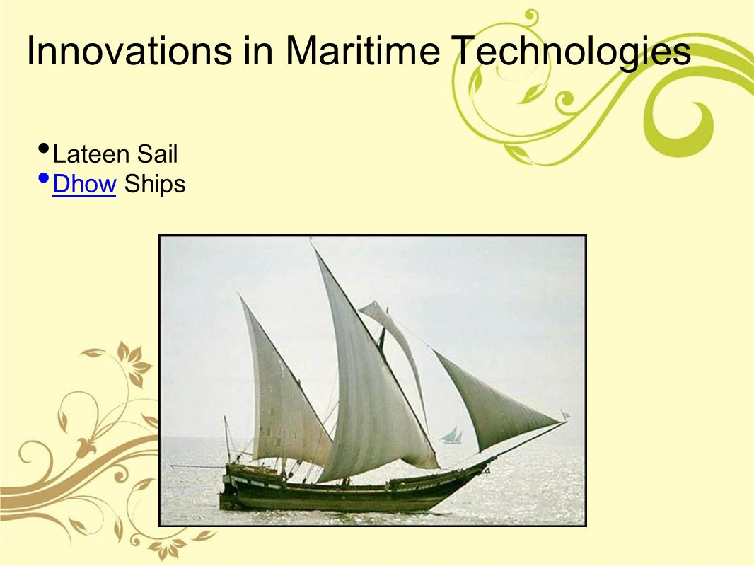 Innovations in Maritime Technologies