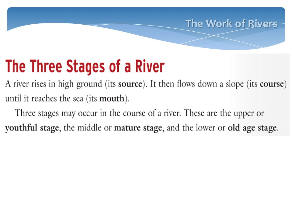 The Work of Rivers