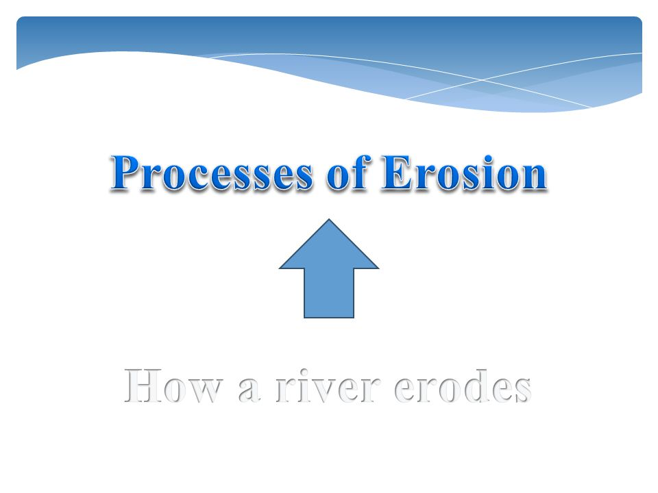 Processes of Erosion How a river erodes