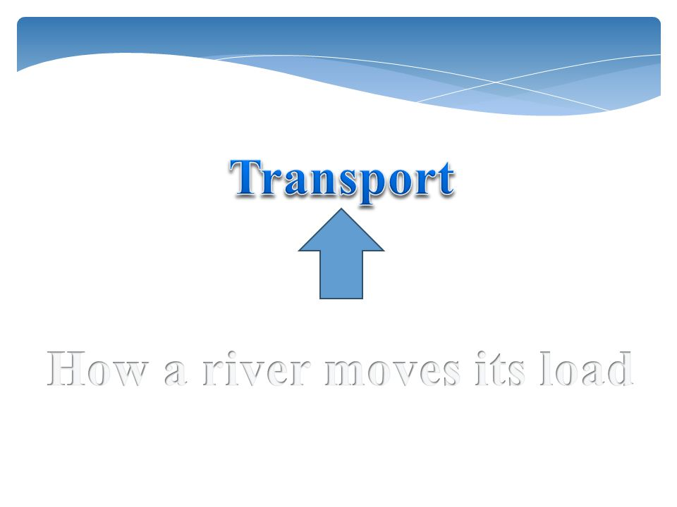 How a river moves its load