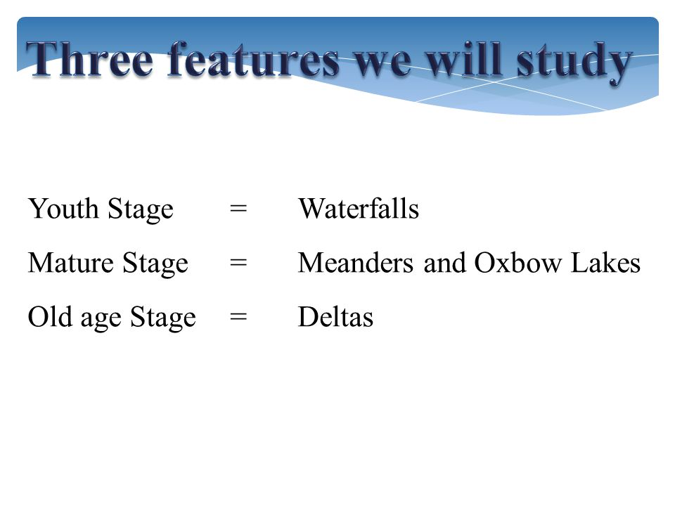 Three features we will study