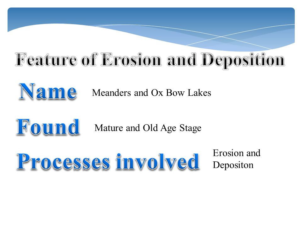 Feature of Erosion and Deposition