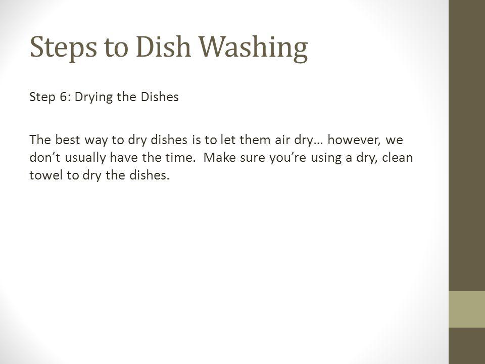 Steps to Dish Washing