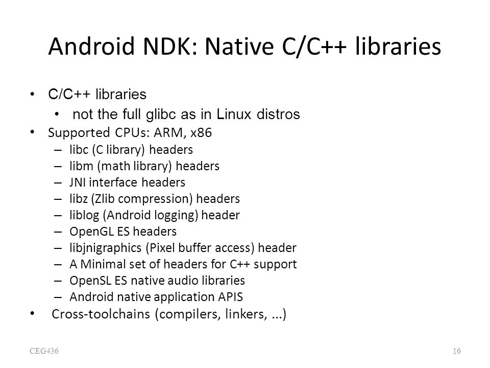 Android NDK: Native C/C++ libraries