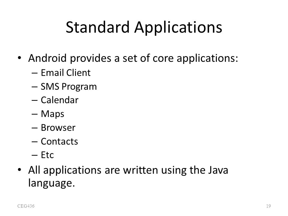 Standard Applications