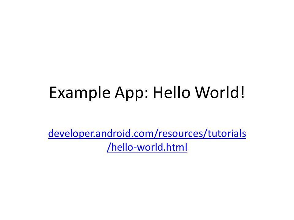 Example App: Hello World!