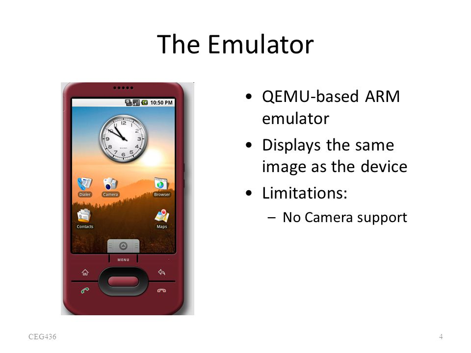 The Emulator QEMU-based ARM emulator