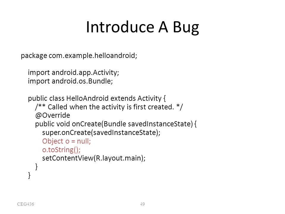 Introduce A Bug