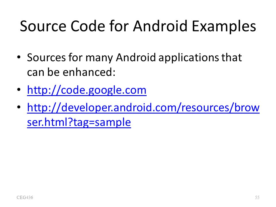Source Code for Android Examples
