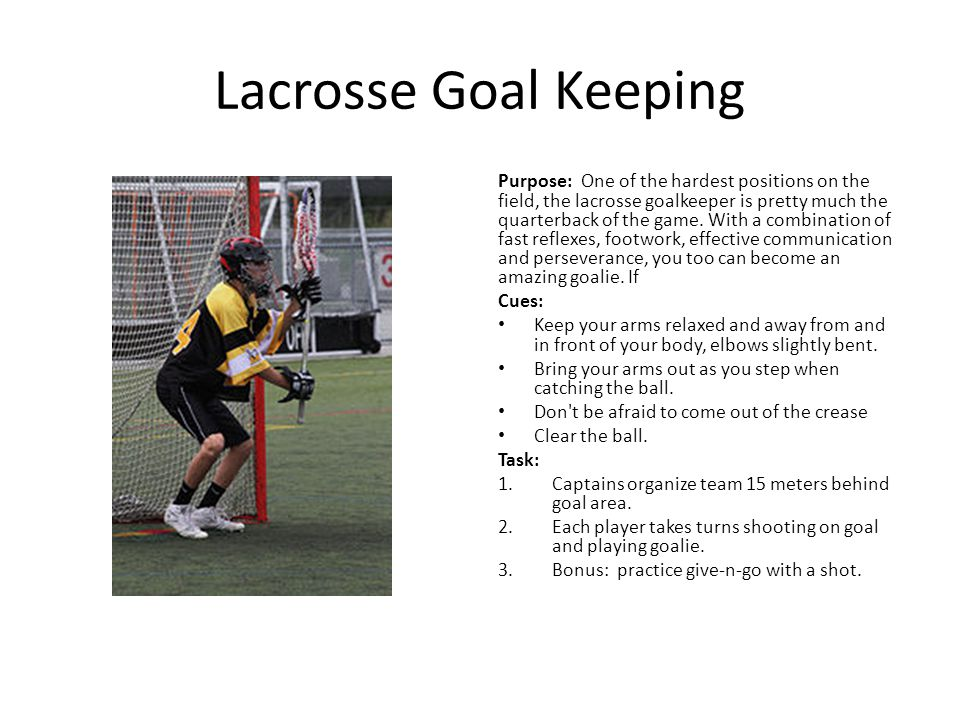 Lacrosse Goal Keeping