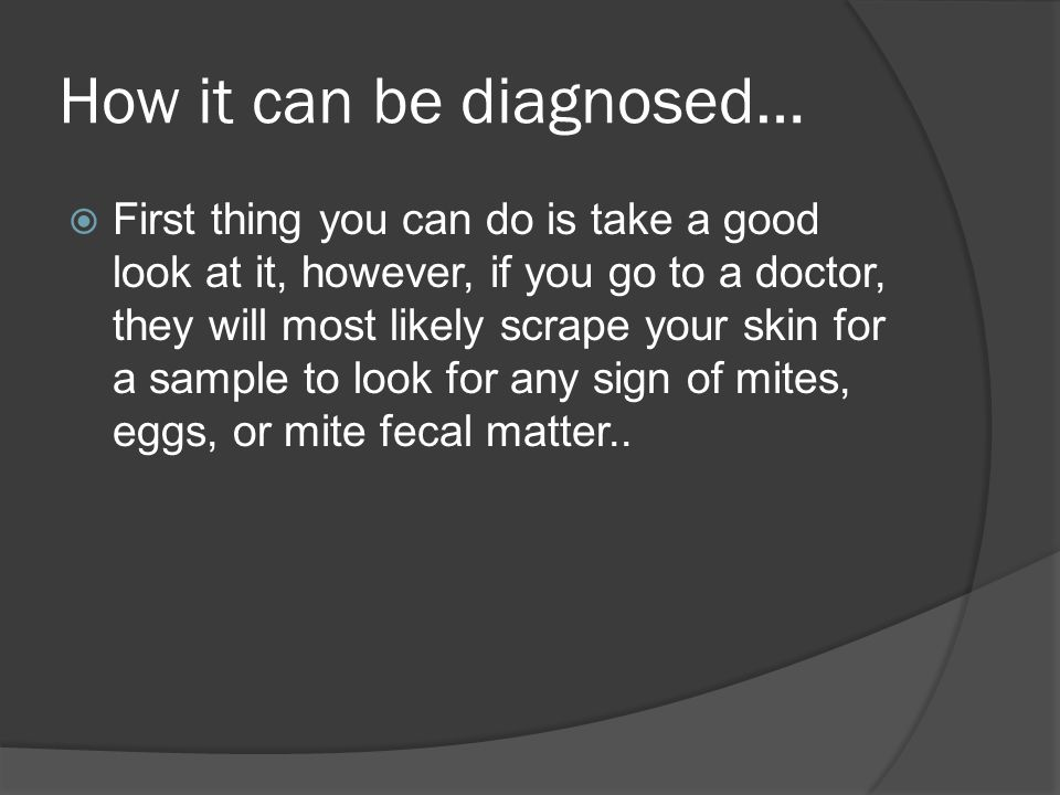 How it can be diagnosed…