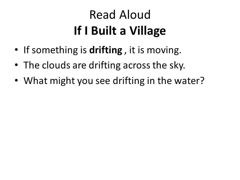 Read Aloud If I Built a Village