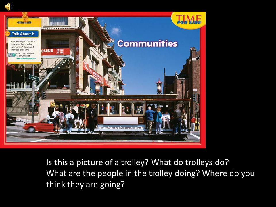 Is this a picture of a trolley What do trolleys do