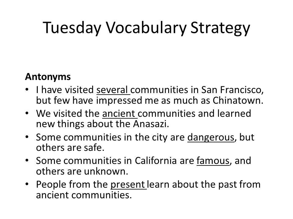 Tuesday Vocabulary Strategy