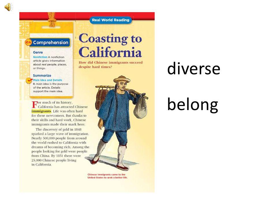 diverse belong.