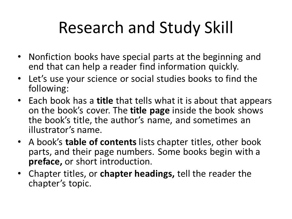 Research and Study Skill