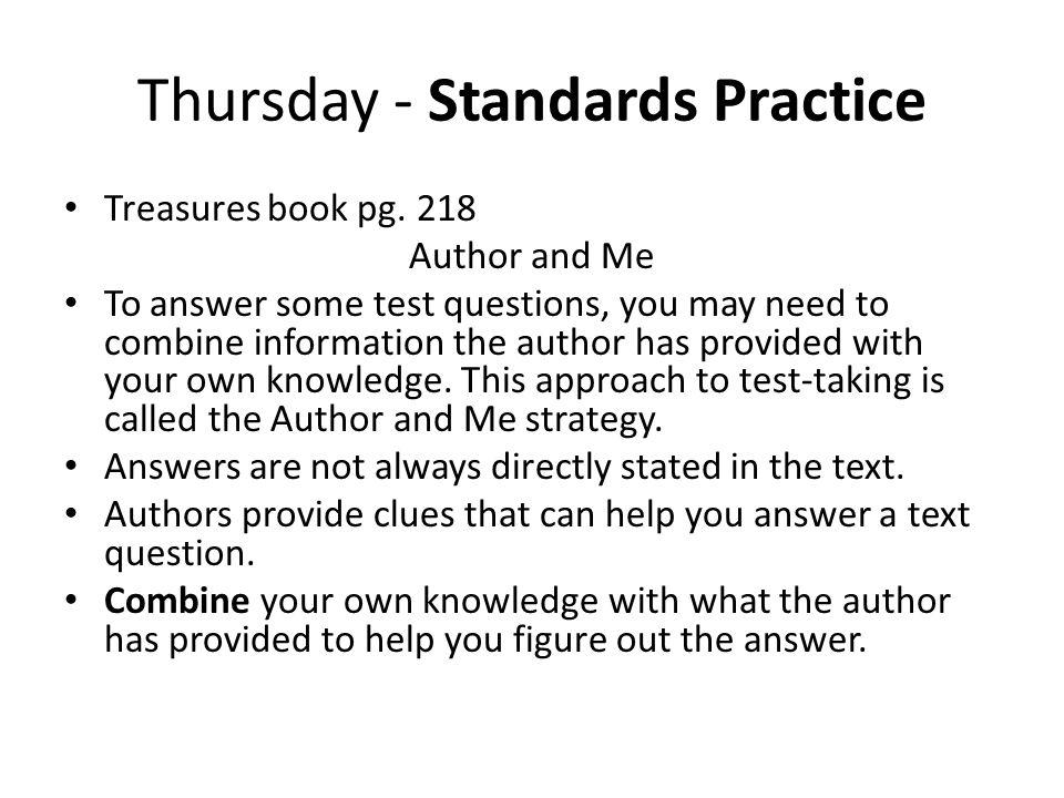 Thursday - Standards Practice