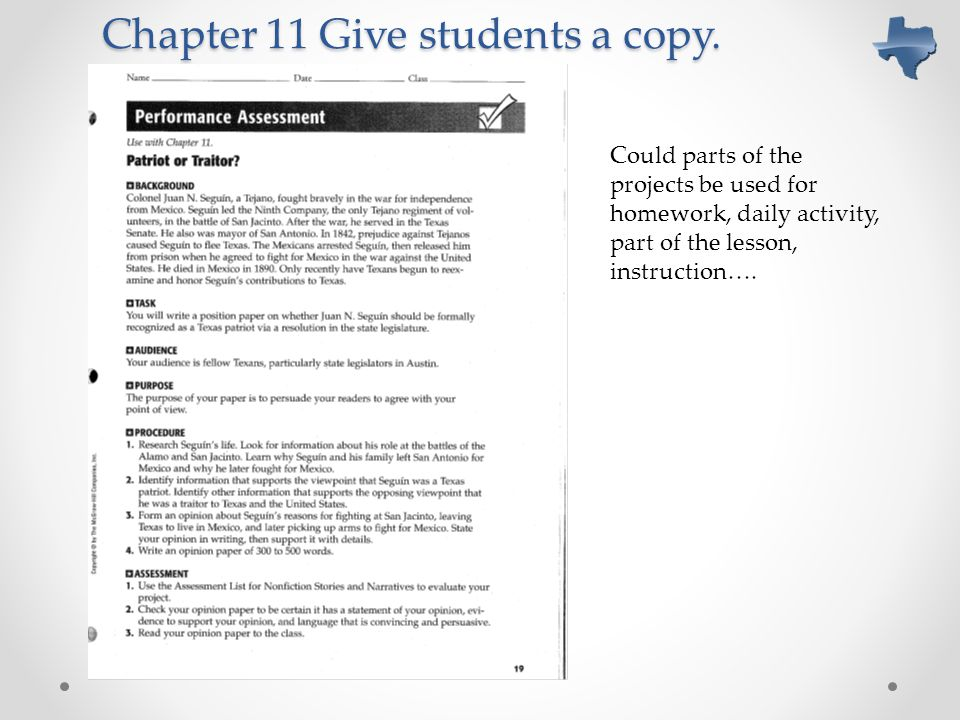 Chapter 11 Give students a copy.