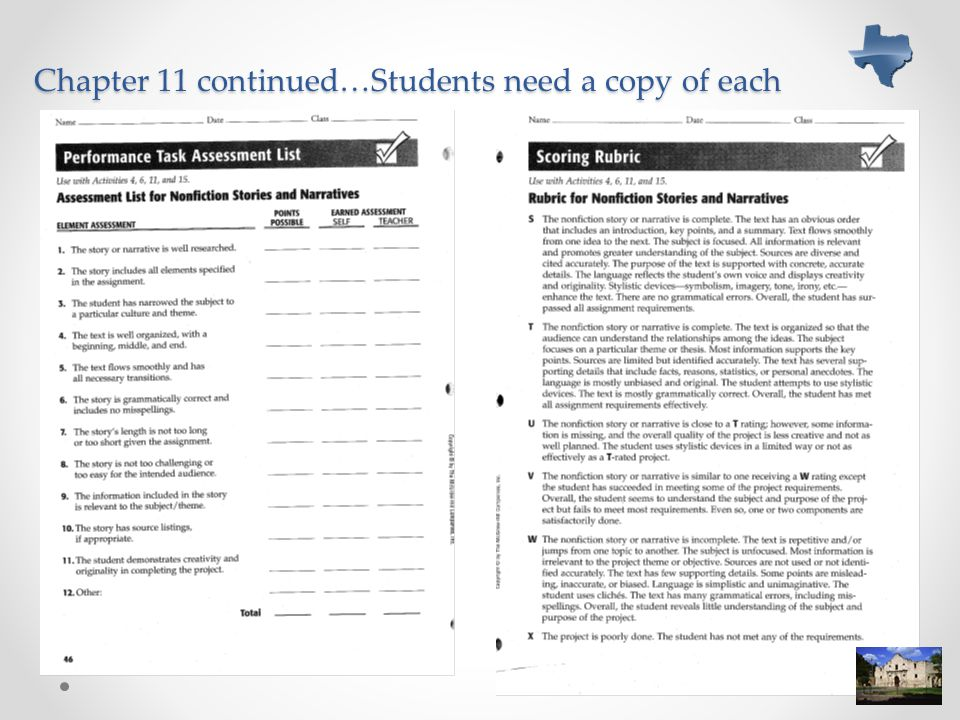 Chapter 11 continued…Students need a copy of each