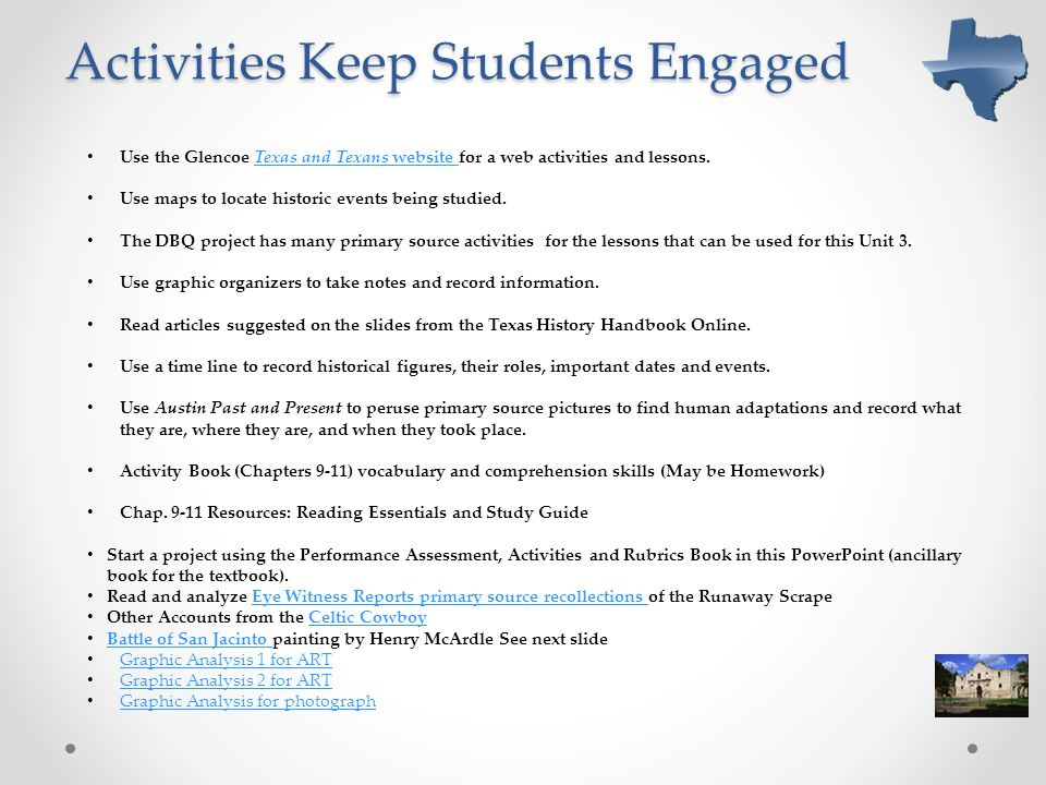 Activities Keep Students Engaged