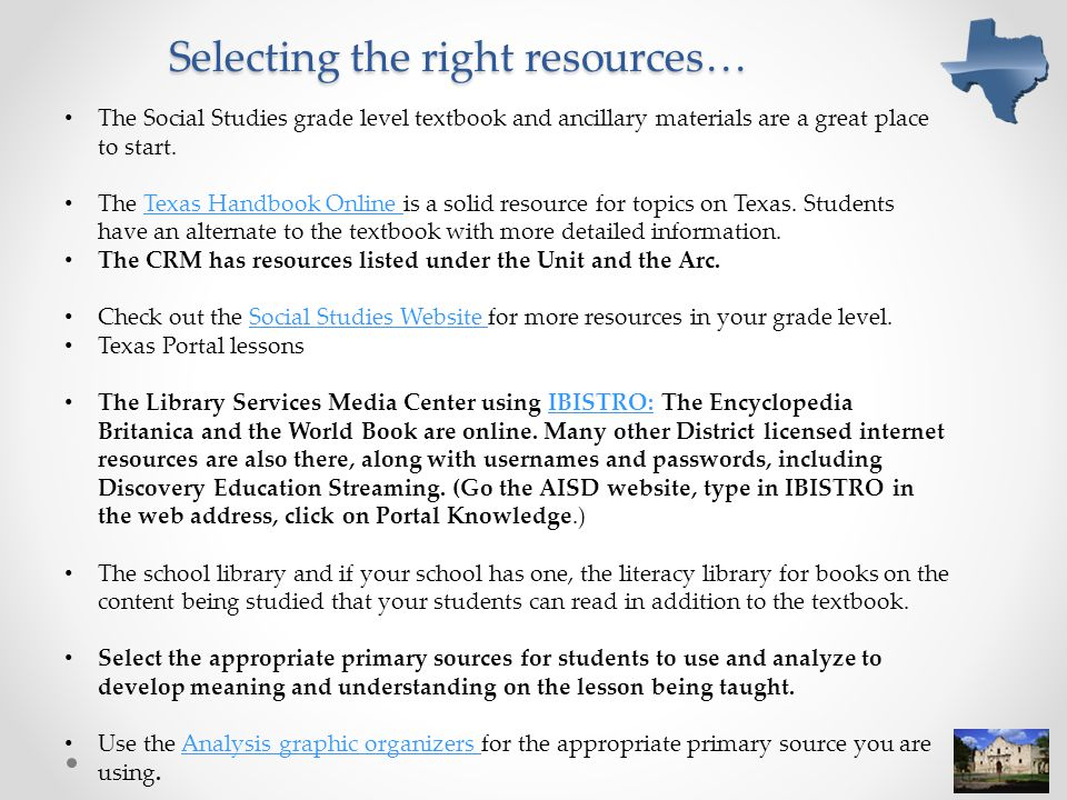 Selecting the right resources…