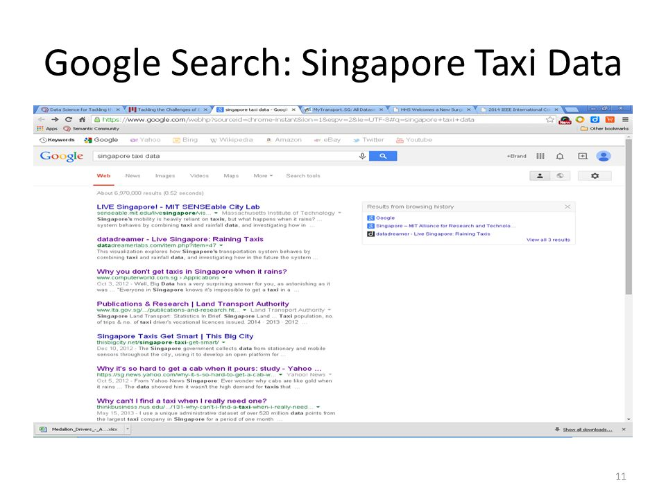 Google Search: Singapore Taxi Data